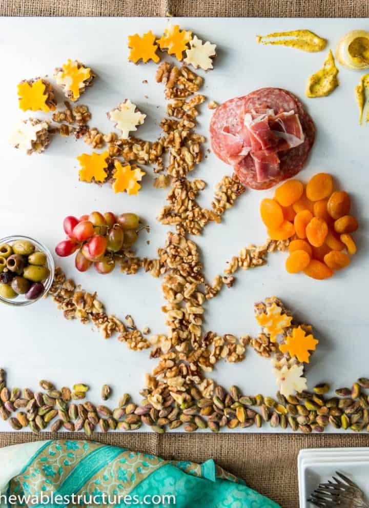 Check out these fun thanksgiving recipes and fun snacks that you can make as appetizers and starters for the holiday season. Try making this cheese and charcuterie tree.
