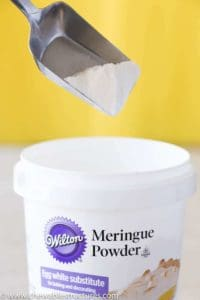 Wilton Meringue powder used in a sugar cookie icing recipe.